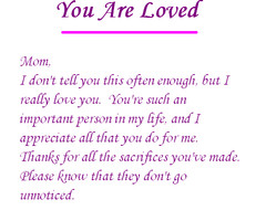 Love Mom Love Notes for Single Parents Honor Single Mothers