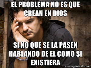Ricardo Arjona - el problema no es que crean en dios si no que se la ...
