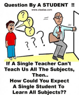 Funny teacher and student jokes