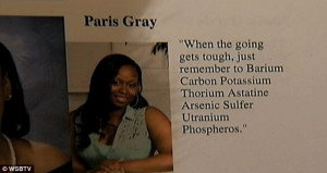 Inspirational message? Gray said her quote is really about starting ...
