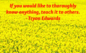 knowledge quote by Tryon Edwards.
