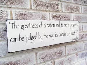 Home, Family > Dogs / Cats / Animal Rescue/ Gandhi quote saying ...