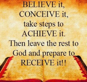 Prepare for his Blessings.