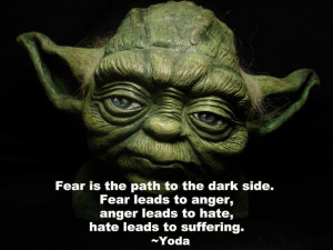 ... Leads To Anger, Anger Leads To Hate, Hate Leads To Suffering. ~ Yoda