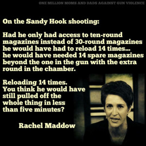 Thanks to Rachel Maddow for this quote.