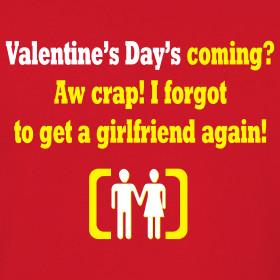 Design ~ Funny Valentine Quote printed on Men's Retro T-shirt