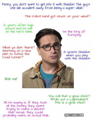 Leonard Hofstadter Quotes – The Big Bang Theory
