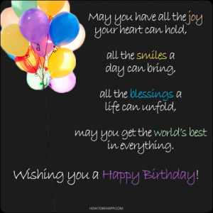 ... get the world's best in everything. Wishing you a Happy Birthday