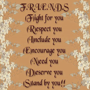 Friends Stand By You Quote