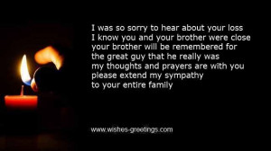 short bereavement verses loss of a brother