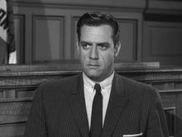 Raymond Burr as Perry Mason on the TV series.