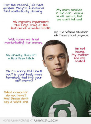 ... Quotes from Big Bang Theory » Funny Sheldon Cooper Quotes from Big