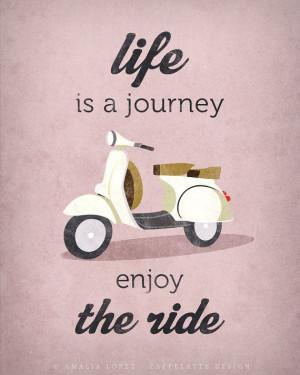 Quote poster print, Vespa scooter print, bike poster, retro poster ...