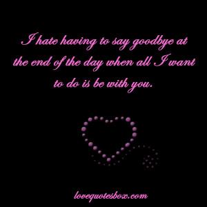 Saying Goodbye Collection...