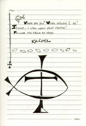 page from one of Rachel's journal's