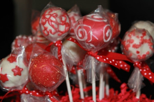 Pop Baskets - a dozen cake pops, wrapped in individual clear bags with ...