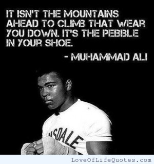 Muhammad Ali quote on overcoming obstacles