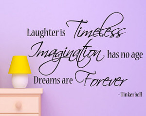 Tinkerbell Quote Wall Decal Decor A rt Bedroom ...