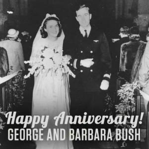 President & Mrs George W H Bush, Sr