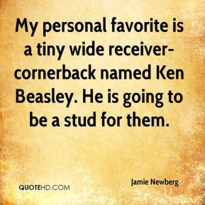 My personal favorite is a tiny wide receiver-cornerback named Ken ...