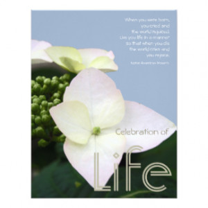 Celebration of life with Inspirational Quote #7 Personalized ...