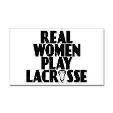 Lacrosse RealWomen Rectangle Sticker for