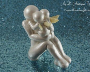 Early Miscarriage Twins KEEPSAKE COINS   Twin Angels with Mother ...