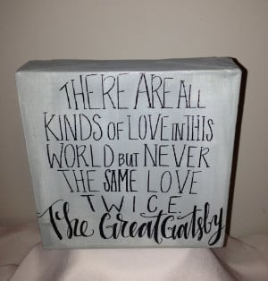 Great Gatsby Love Quotes Movie: The Great Gatsby Quote On 6 X 6 Inch ...