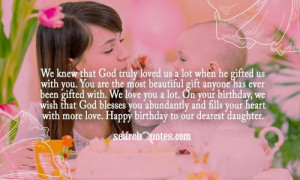 Birthday Quotes From Mother To Daughter ~ Birthday Wishes For Daughter ...