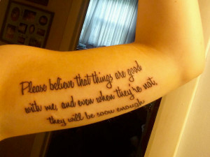 Perks of Being a Wallflower Quote Tattoos