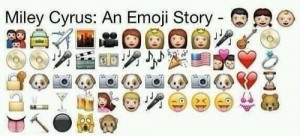 Miley Cyrus in emojis. Wrecking ball. Liam Hemsworth. Funny shit