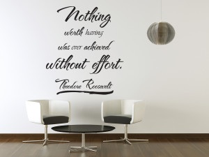 Details about Vinyl Wall Art Theodore Roosevelt Quote Sticker Decal ...