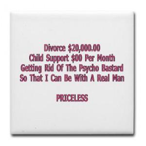 Divorce Tile Coaster Funny Gifts