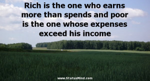 one whose expenses exceed his income Witty Quotes StatusMind com