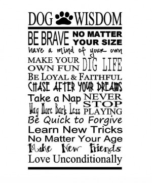 ... www.etsy.com/listing/160139541/dog-wisdom-wall-quote-wall-words-dog
