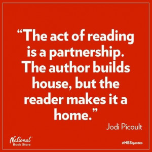 Great quote from Jodi Picoult and reminded for her fans that her new ...