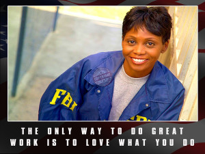 """Police Officer Motivational Poster """"Love What You Do"""""""