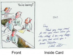 Funny Co Worker Leaving Cards