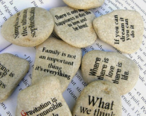 quote on stone, quote art, quote gift, quote beach stone, group gift ...