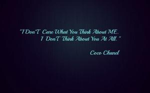 Description: The Wallpaper above is Coco chanel quote Wallpaper in ...