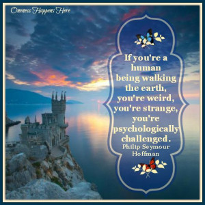 Castle on Cliff. Philip Seymour Hoffman quote https://www.Facebook.com ...