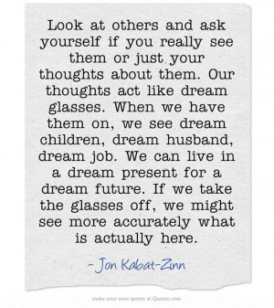 Dreams vs Reality - Jon Kabat-Zinn #mindfulness