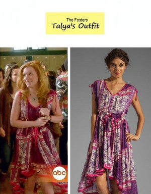 On the blog: Talya's (Madisen Beaty)'s high-low boho inspired dress ...