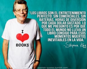 stephen king spanish quotes frases en espanol espanol spanish