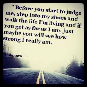 Don't judge quote