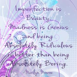 Marilyn Monroe: Imperfection is beauty