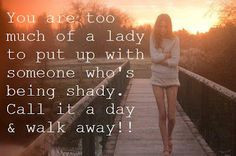 don't put up with shady people