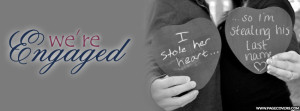 Were Engaged Married Wedding Cover