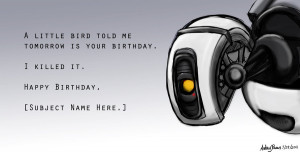 Happy Birthday from GLaDOS by Yunyin