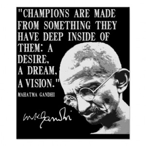 Champions are made from... print